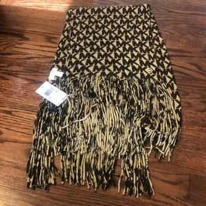 NWT Authentic Michael Kors brown/tan scarf